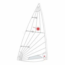 Vela Laser MKII Homologada (STD)